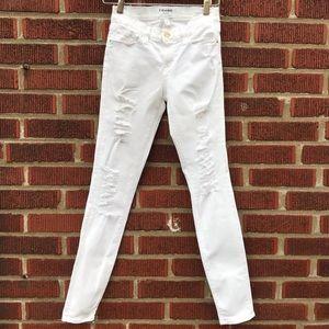 FRAME le skinny de Jeanne white jean